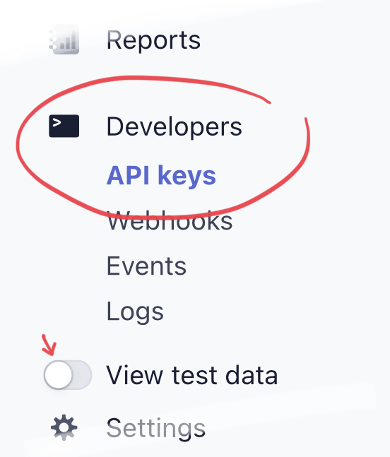 Stripe API-nyckel 1